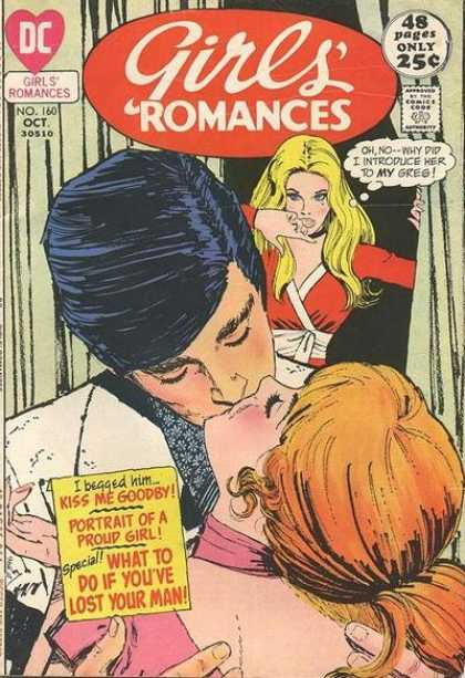 Girls' Romances 160 - Kiss - No 160 Oct - My Greg - Blonde - What To Do If Youve Lost Your Man