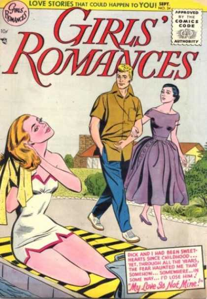 Girls' Romances 34 - My Love Is Not Mine - Sweethearts - Childhood - Stories - Lose