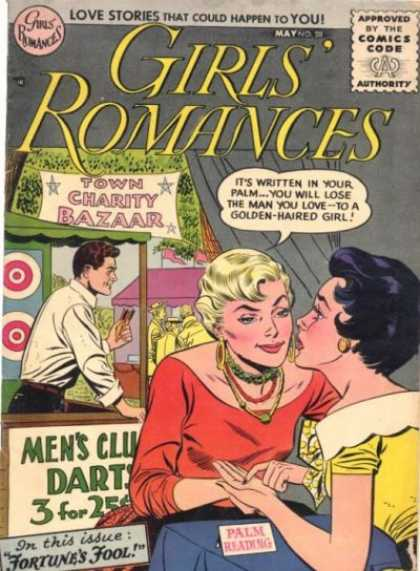 Girls' Romances 38 - Women - Man - Booth - Fair - Tent