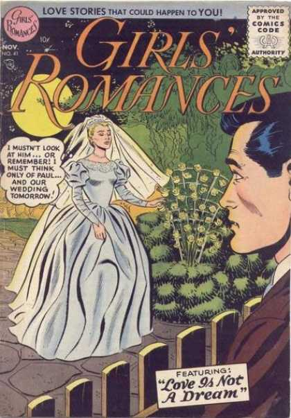Girls' Romances 41 - Bride - Groom - Love - Comic Book - Wedding