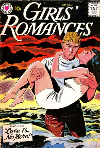 Girls' Romances 61 - Love Is No More - July - 10 Cent - Ocean - White