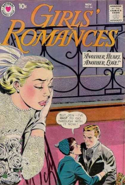 Girls' Romances 64 - Comics Code - Another Heartanother Love - Criing Woman - Couple - Man