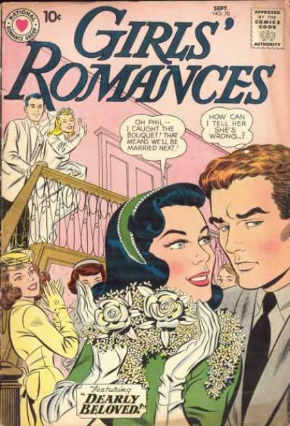 Girls' Romances 70 - Wedding - Dearly Beloved - Flowers - Bouquet - Cheating