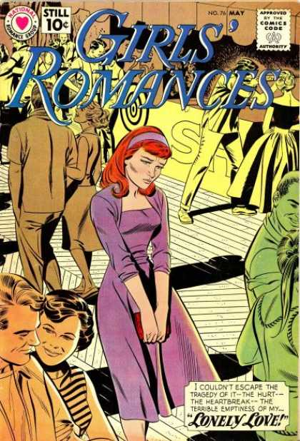 Girls' Romances 76 - National Romance Group - No 76 - May - Lonely Love - Redhead