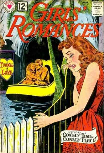 Girls' Romances 82 - Lonley Time Lonley Place - Tunnel Of Love - Palm Trees - Boat - Picket Fence