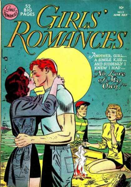 Girls' Romances 9 - Beach - Romance - Moonlight - Hat - Kissing