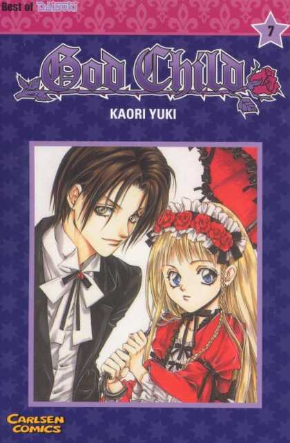 God Child 7 - Kaori Yuki - Carlsen Comics - Guy - Red Roses - Red Umbrella