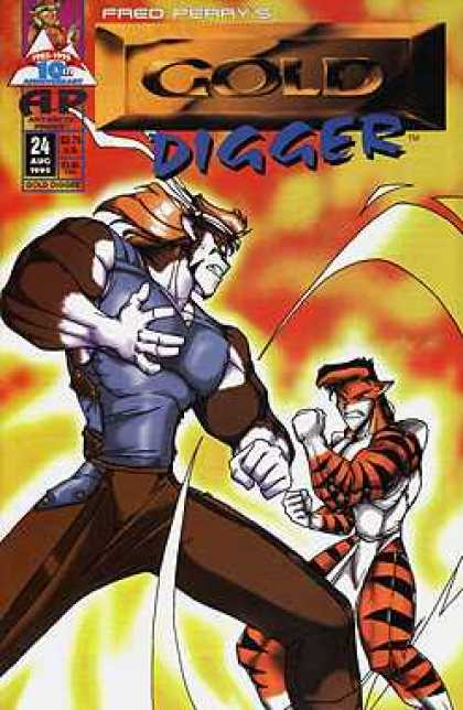 Gold Digger 2 24 - Fred Perrys - Fighting - Tiger Costume - Fists - Ap
