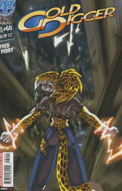 Gold Digger 3 60 - Woman That Looks Like A Cat - Woman With Tail - Lightning On Womans Wrists - Cheetah Hair - Electricity