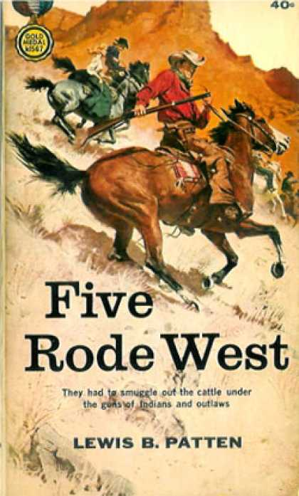 Gold Medal Books - Five Rode West - Lewis B. Patten