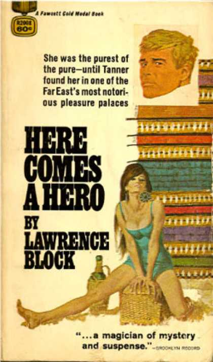 Gold Medal Books - Here Comes a Hero - Lawrence Block