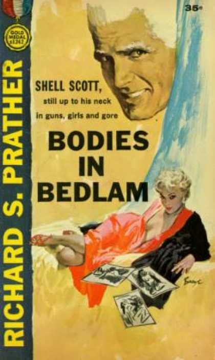 Gold Medal Books - Bodies in bedlam - Shell Scott