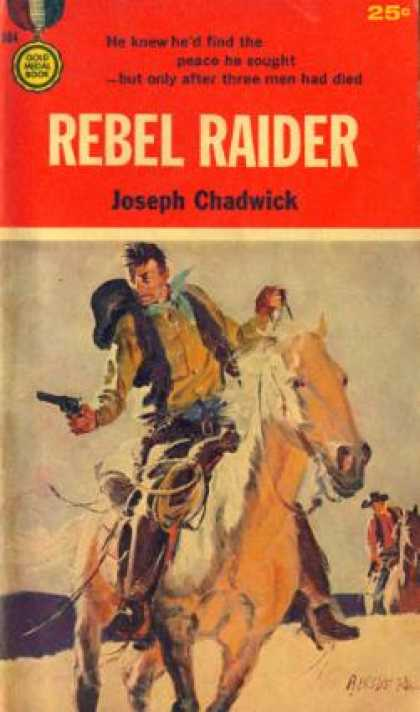 Gold Medal Books - Rebel Raider - Joseph Chadwick