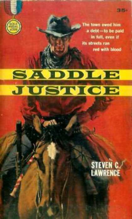 Gold Medal Books - Saddle Justice - Steven C. Lawrence