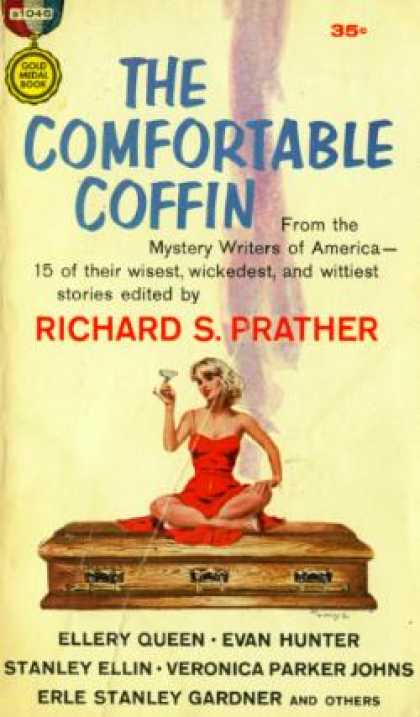 Gold Medal Books - The Comfortable Coffin - Ellery Queen