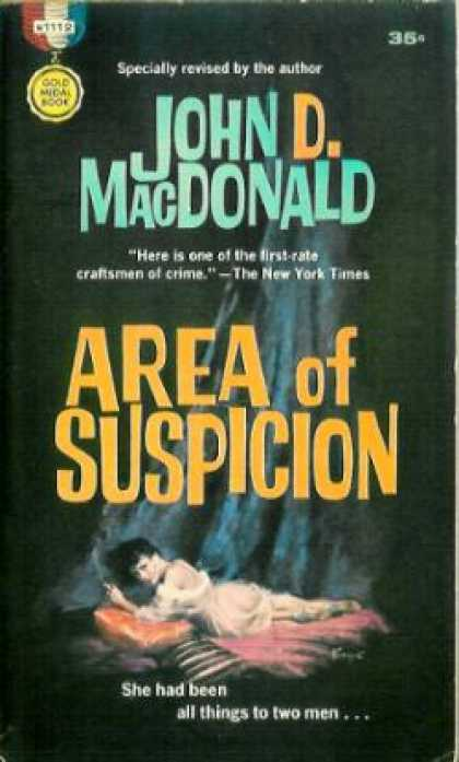 Gold Medal Books - Area of Suspicion - John D. Macdonald