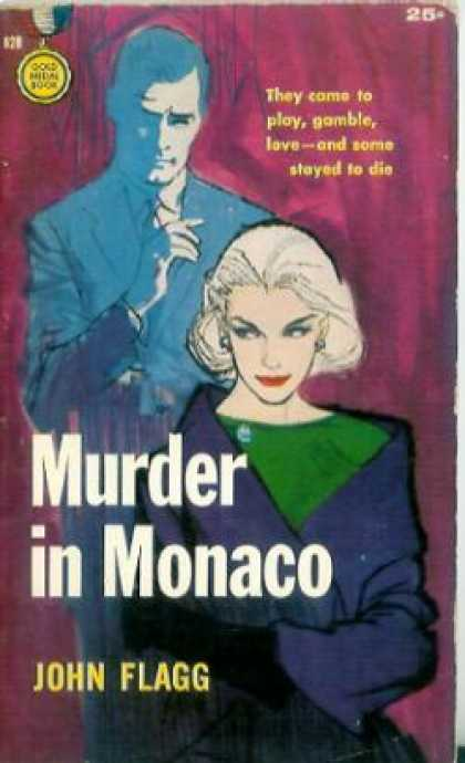 Gold Medal Books - Murder In Monaco - John Flagg