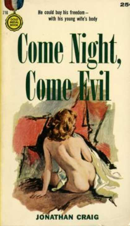 Gold Medal Books - Come Night, Come Evil - Jonathan Craig