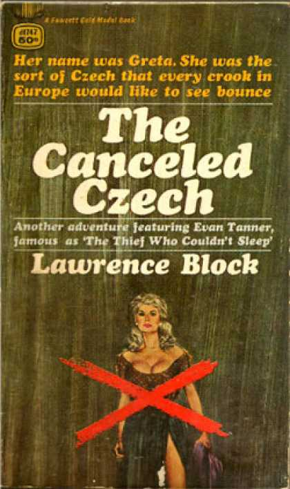 Gold Medal Books - The cancel Czech - Lawrence Block