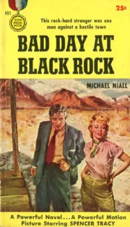 Gold Medal Books - Bad Day at Black Rock - Michael (howard Breslin) Niall
