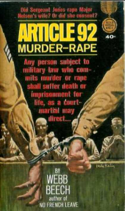 Gold Medal Books - Article 92: Murder-rape
