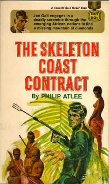 Gold Medal Books - The Skeleton Coast Contract - Philip Atlee