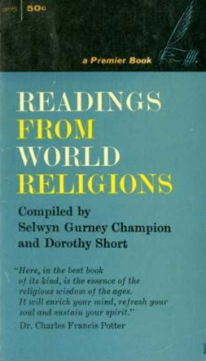 Gold Medal Books - Readings From World Religions - Selwyn Gurney & Dorothy Short Champion