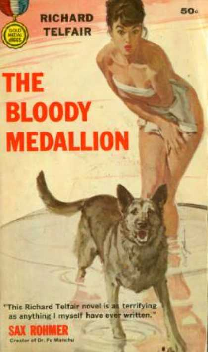 Gold Medal Books - The Bloody Medallion - Richard Telfair
