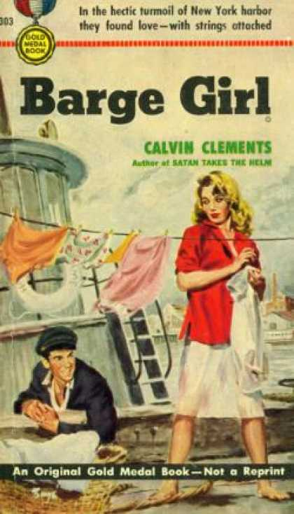 Gold Medal Books - Barge Girl - Calvin Clements