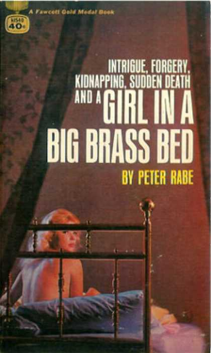 Gold Medal Books - Girl In a Big Brass Bed - Peter Rabe