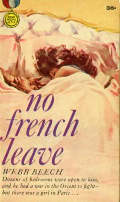 Gold Medal Books - No French leave - Webb Beech