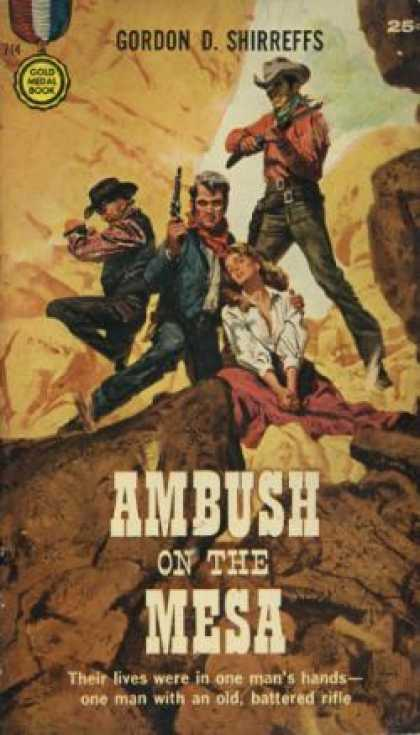 Gold Medal Books - Ambush On the Mesa - Gordon D. Shirreffs