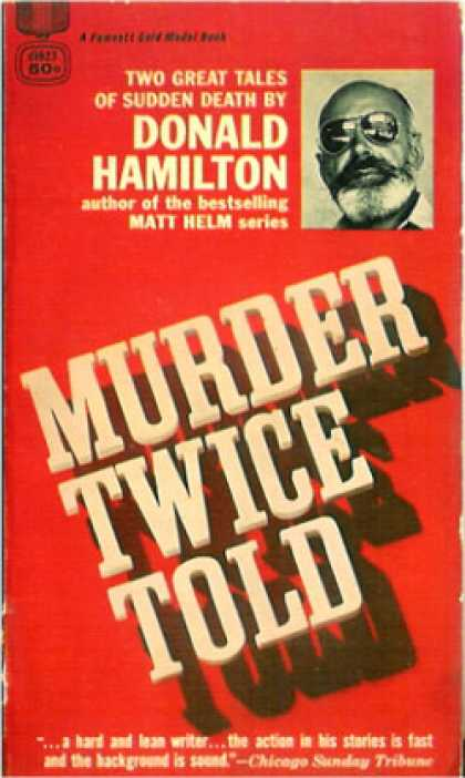 Gold Medal Books - Murder Twice Told - Donald Hamilton