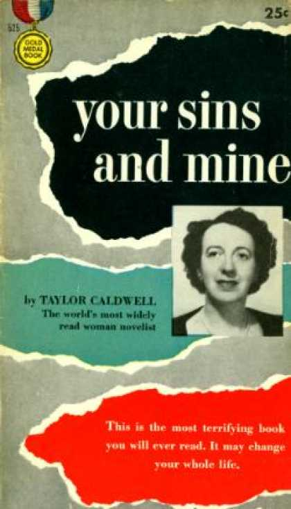Gold Medal Books - Your Sins and Mine