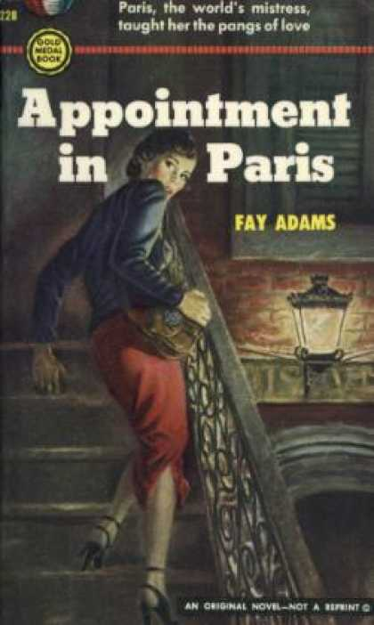 Gold Medal Books - Appointment In Paris - Fay Adams