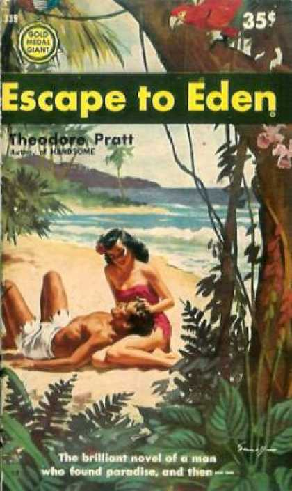 Gold Medal Books - Escape to Eden -Theodore Pratt
