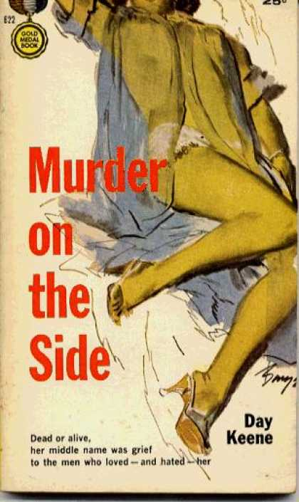 Gold Medal Books - Murder On the Side - Day Keene