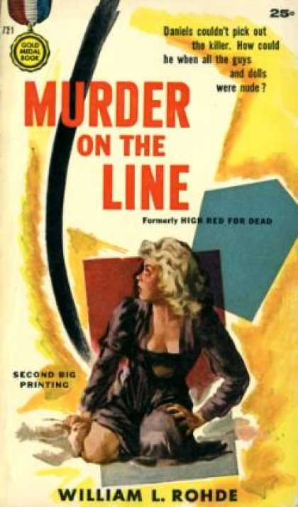 Gold Medal Books - Murder on the Line - William L. Rohde
