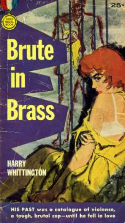 Gold Medal Books - Brute In Brass - Harry, Illustrated By Cover Painting By Mitchell Hooks Whitting