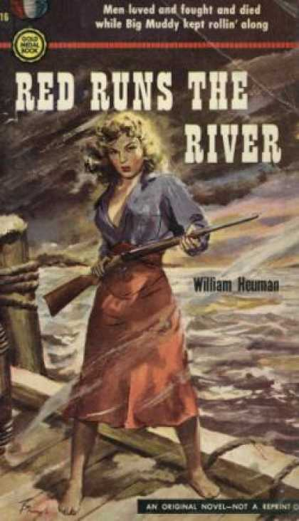 Gold Medal Books - Red Runs the River