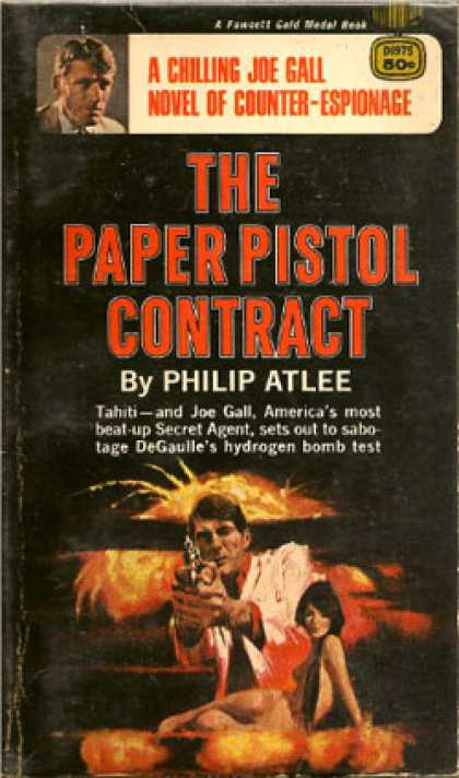 Gold Medal Books - The Paper Pistol Contract - Philip Atlee