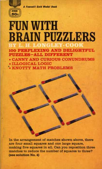 Gold Medal Books - Fun With Brain Puzzs - L.h. Longley-cook