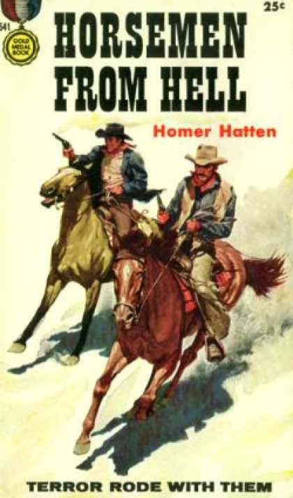 Gold Medal Books - Horsemen From Hell - Homer Hatten