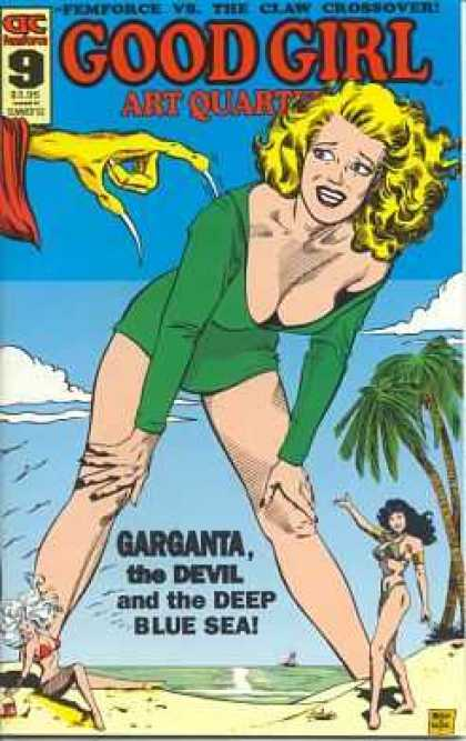 Good Girl Art 9 - Claws - Woman - Swimsuit - Garganta - Beach