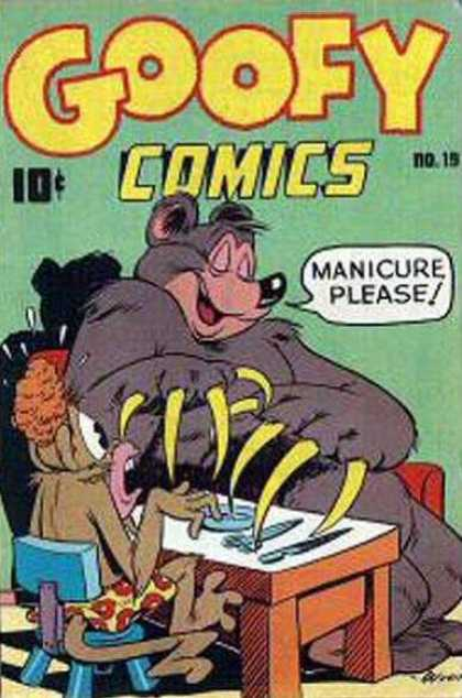 Goofy Comics 19 - Manicure Please - Monkey - Bear - Claws - Boxers