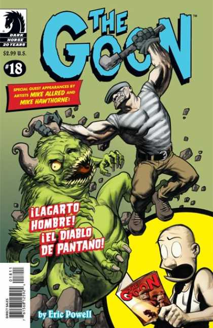 Goon 18 - The Goon - Lagarto Hombre El Diablo De Pantano - Dark Horse Comics - Spanish Comic Book - Cartoon Illustration - Eric Powell