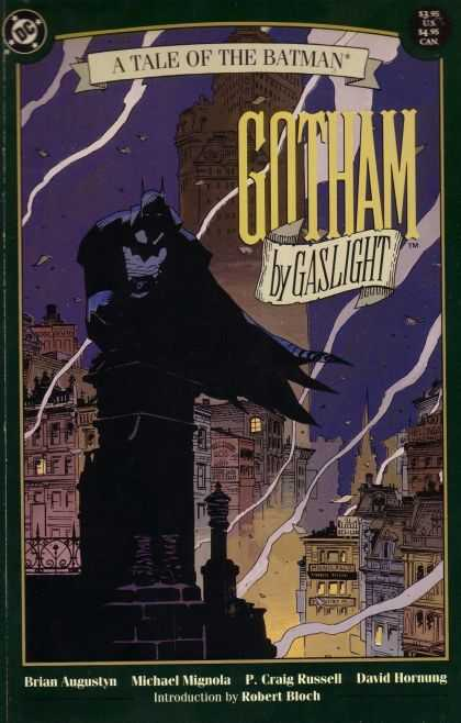 Gotham by Gaslight 1 - Batman - Building - Night - City - Smoke