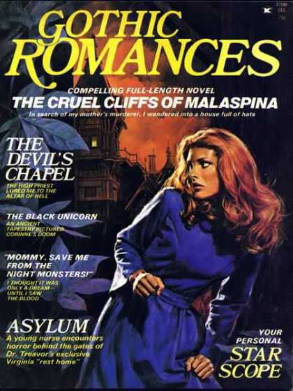 Gothic Romances 1 - Malaspina - Full-length Novel - The Devils Chapel - Tapestry - The Black Unicorn