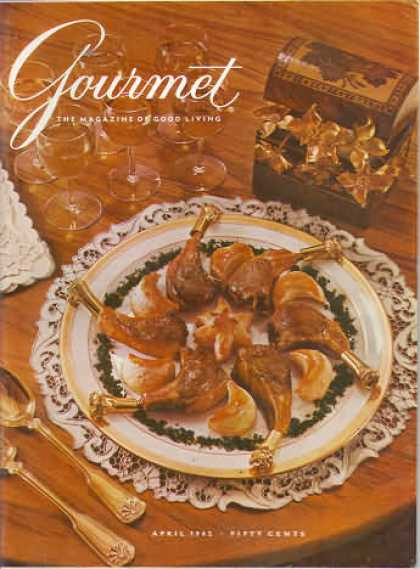 Gourmet - April 1962