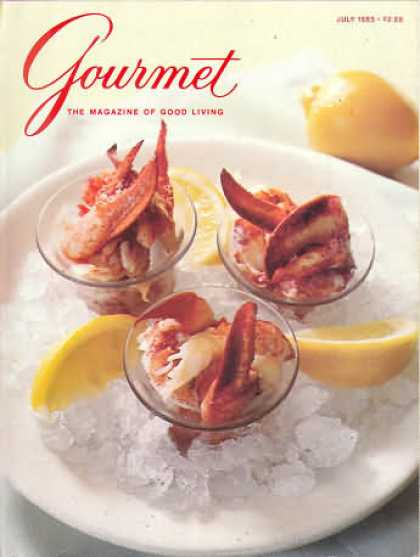 Gourmet - July 1985